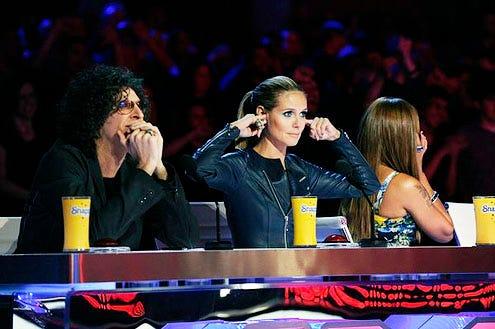 America's Got Talent - Season 8 - Howard Stern, Heidi Klum and Mel B