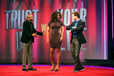 "Trust Us With Your Life - Season 1 - ""Serena Williams"" - Wayne Brady, Serena Williams and Jonathan Mangum"