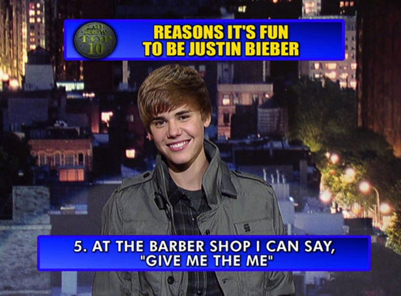 Late Show with David Letterman - Justin Bieber - February 4, 2011