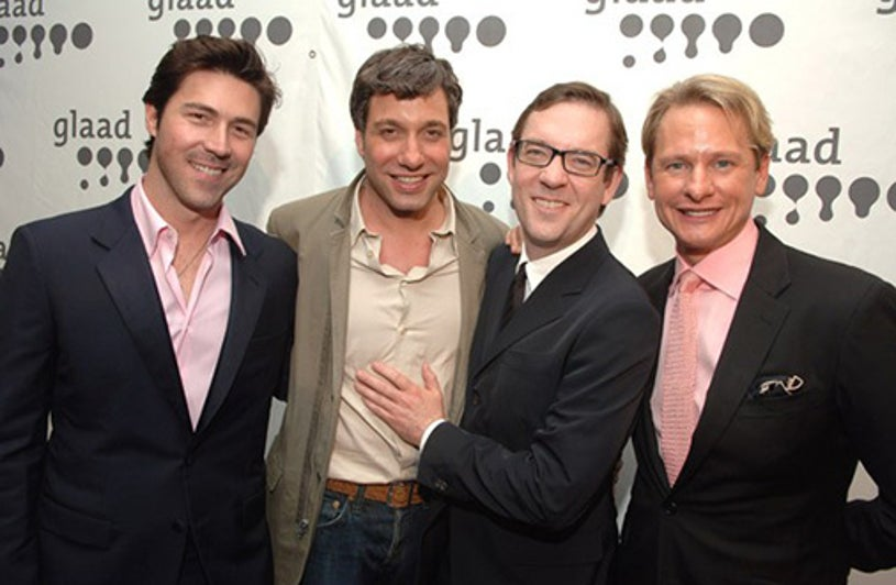 Kyan Douglas, Thom Filicia, Ted Allen and Carson Kressley - GLAAD Media Awards, March 2007