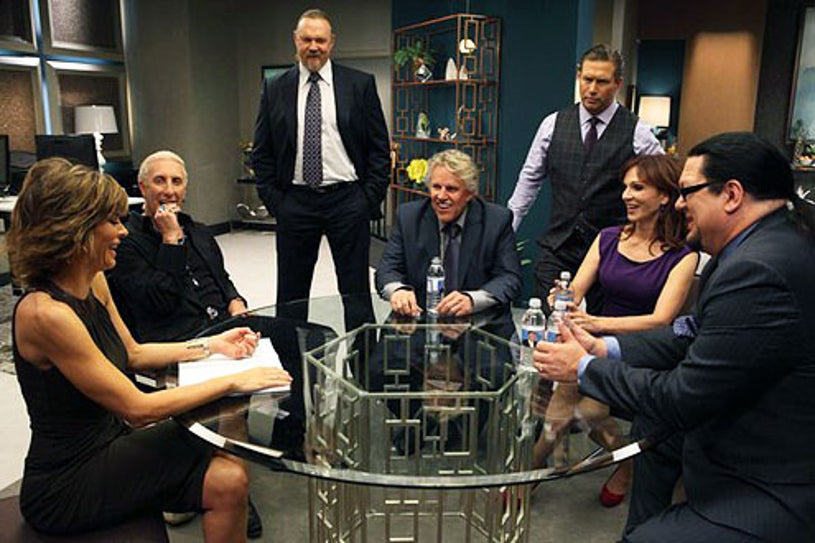 """All-Star Celebrity Apprentice - """"The Wolf in Charge of the Hen House"""" - Lisa Rinna, Trace Adkins, Dee Snider, Gery Busey, Stephen Baldwin, Marilu Henner and Penn Jillette"""