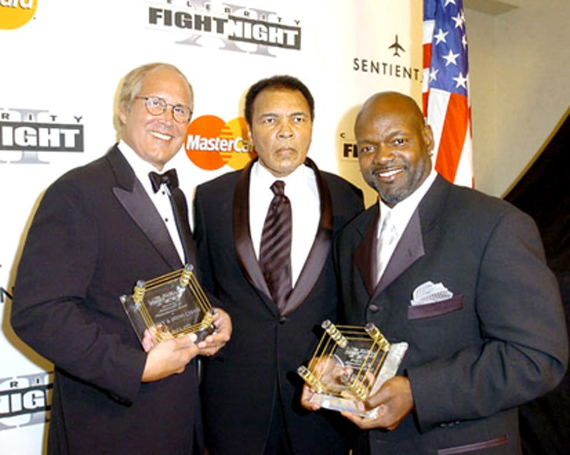 Chevy Chase, Muhammad Ali and Emmitt Smith - Celebrity Fight Night, April 2, 2005