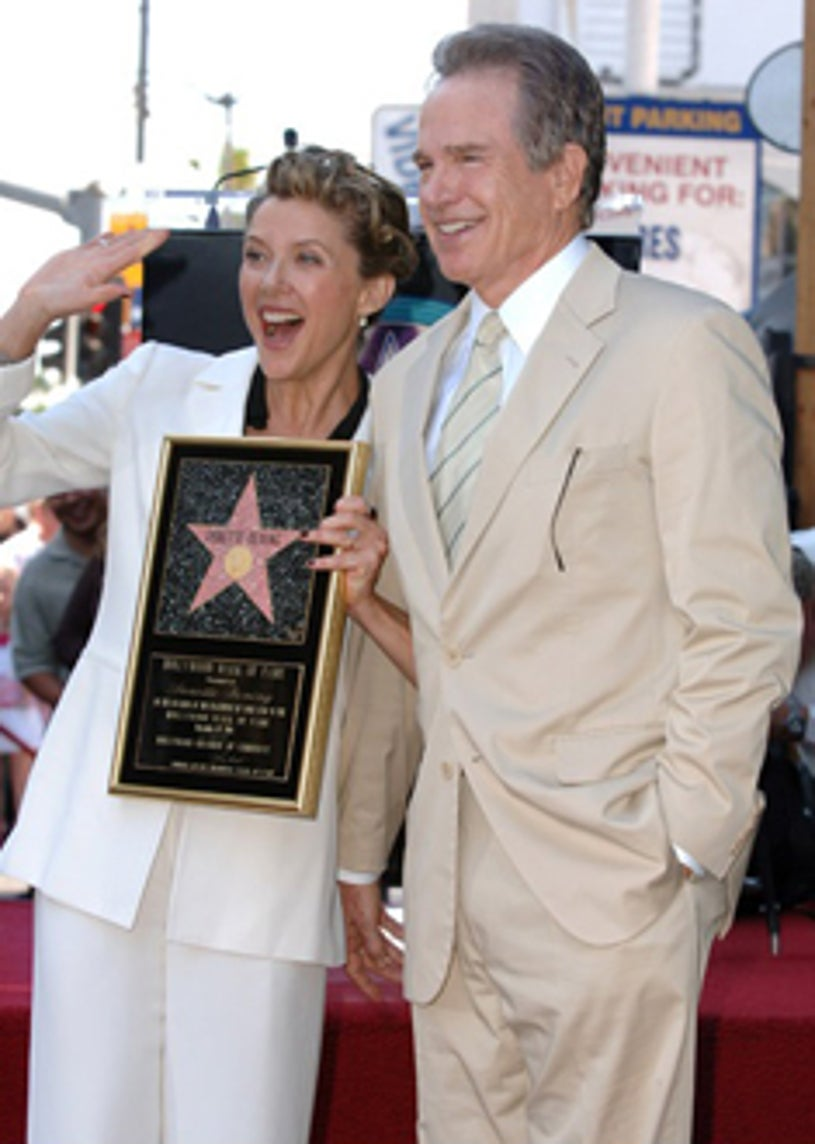 Annette Bening and Warren Beatty - Star on the Walk of Fame, November 10, 2006