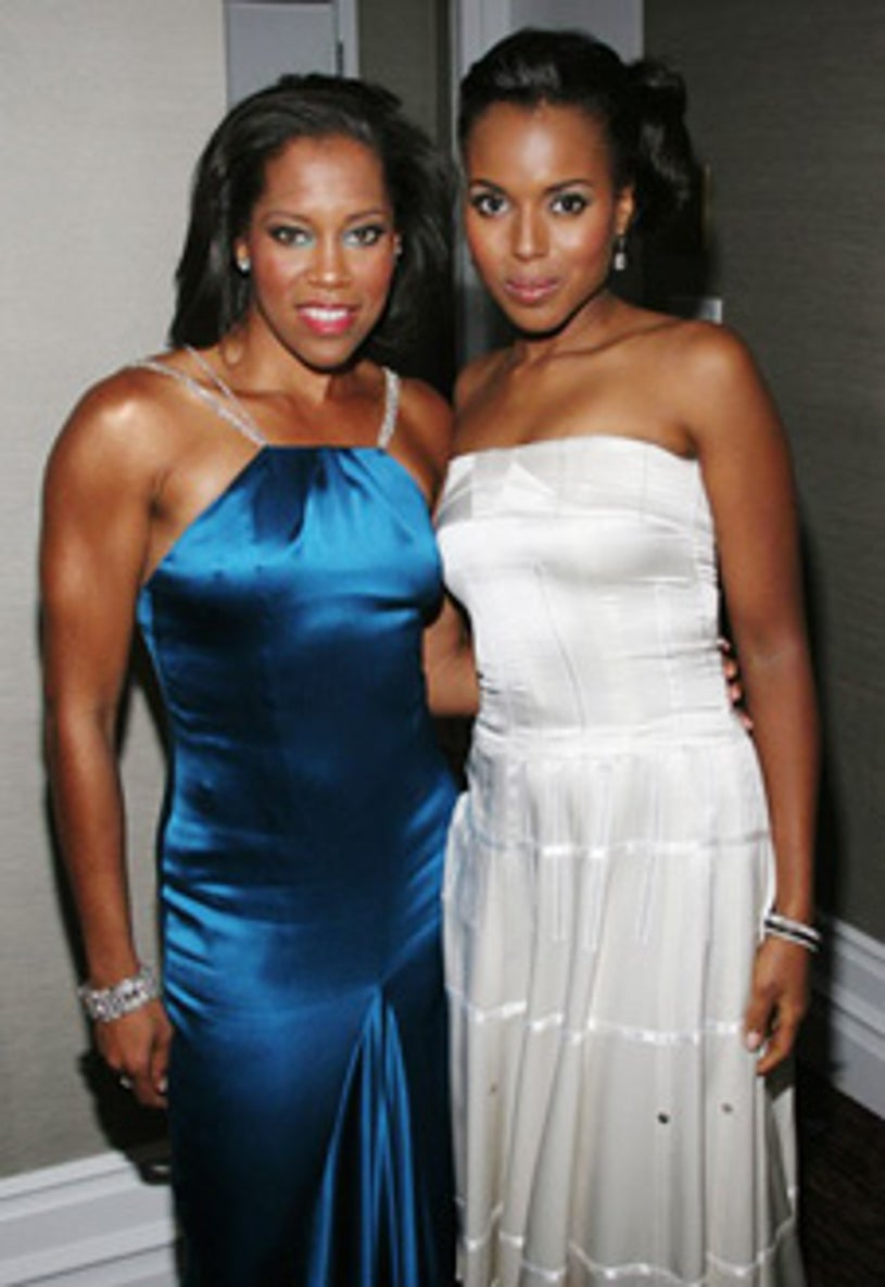 Regina King and Kerry Washington - 8th Annual Hollywood Film Festival and Awards, October 18, 2004