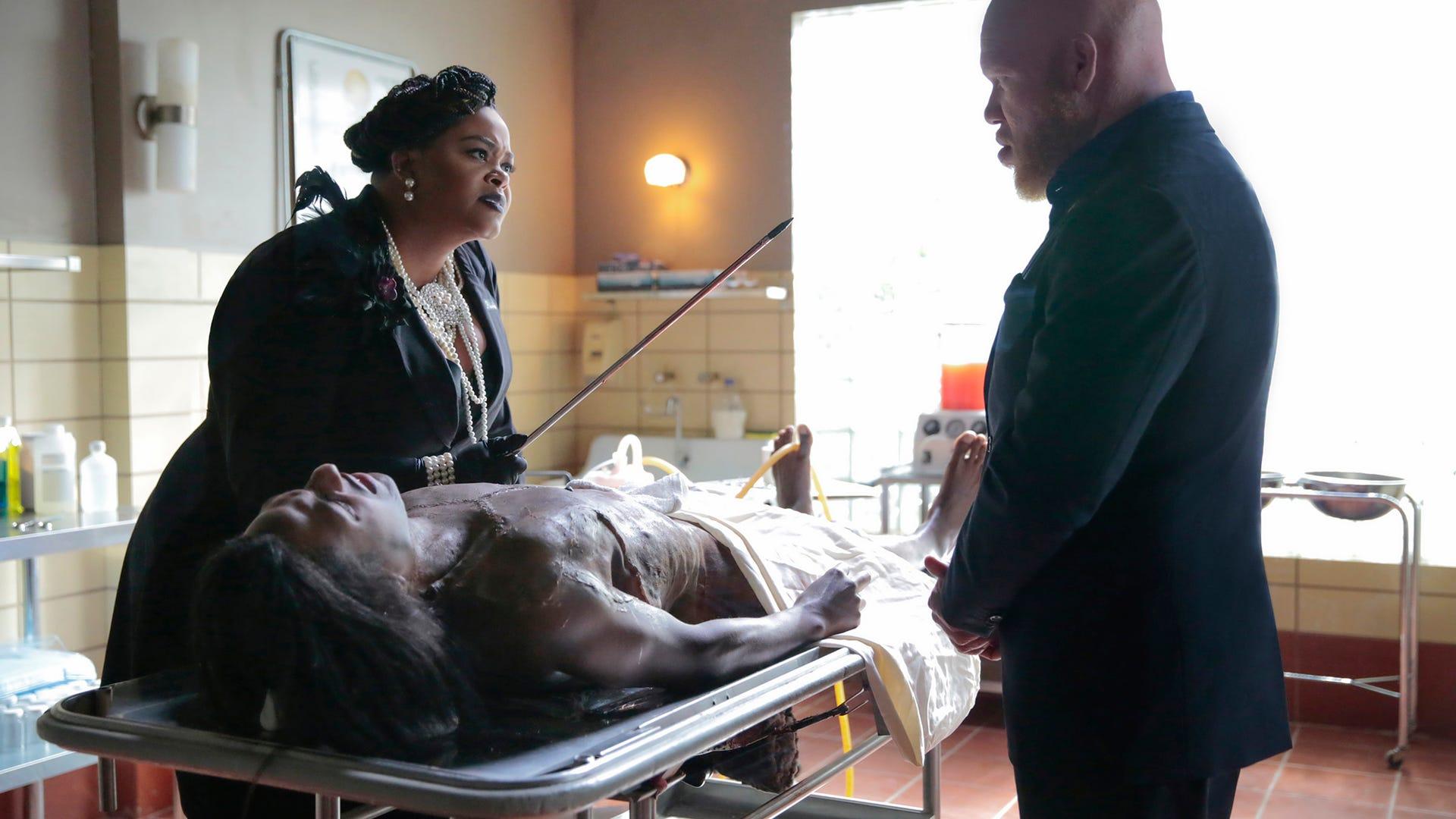 "Jill Scott as Lady Eve, Marvin ""Krondon"" Jones III as Tobias, Black Lightning"