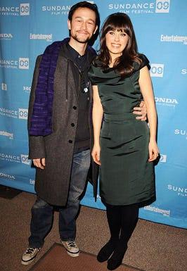"Joseph Gordon-Levitt and Zooey Deschanel- The Fox Searchlight premiere of ""500 Days of Summer"" during the 2009 Sundance Film Festival in Park City, Utah, January 17, 2009"