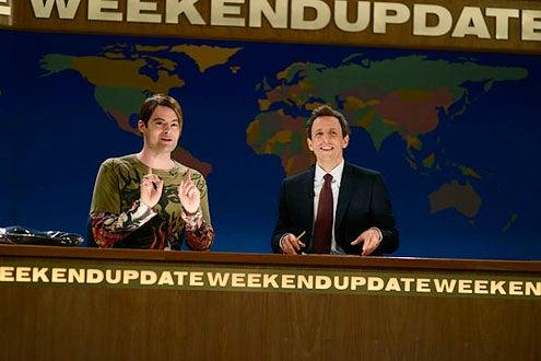 "Saturday Night Live - Season 38 - ""Bruno Mars"" - Bill Hader and Seth Meyers"