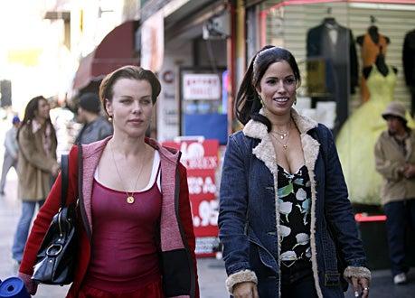 """Ugly Betty - """"Trust, Lust, and Must"""" - Debi Mazar as Leah Feldman, Ana Ortiz as Hilda"""