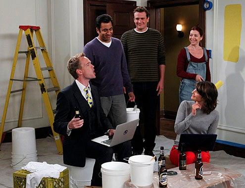 "How I Met Your Mother - Season 7 - ""Mystery Vs. History"" - Neil Patrick Harris, Alyson Hannigan, Jason Segel, Cobie Smulders, Kal Penn"