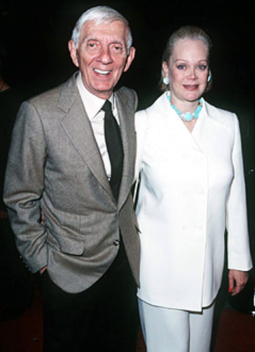 """Aaron Spelling and Candy Spelling - """"In & Out"""" premiere, September 17, 1997"""