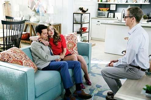 "Royal Pains - Season 6 - ""Hankmed on the Half Shell"" - Paulo Costanzo, Brooke D'Orsay and Patrick Breen"