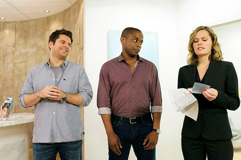 "Psych - Season 7 - ""Nip and Suck It"" - James Roday, Dule Hill and Maggie Lawson"