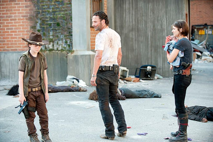 """The Walking Dead - Season 3 - """"Killer Within"""" - Chandler Riggs, Andrew Lincoln and Lauren Cohan"""