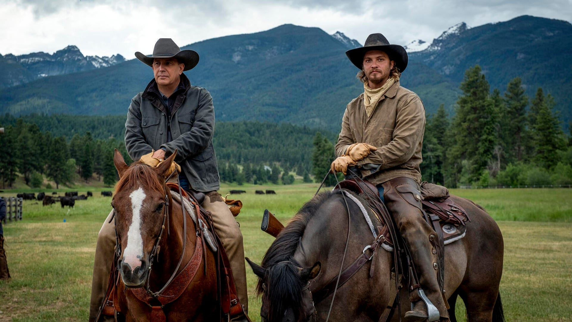 Kevin Costner and Luke Grimes, Yellowstone