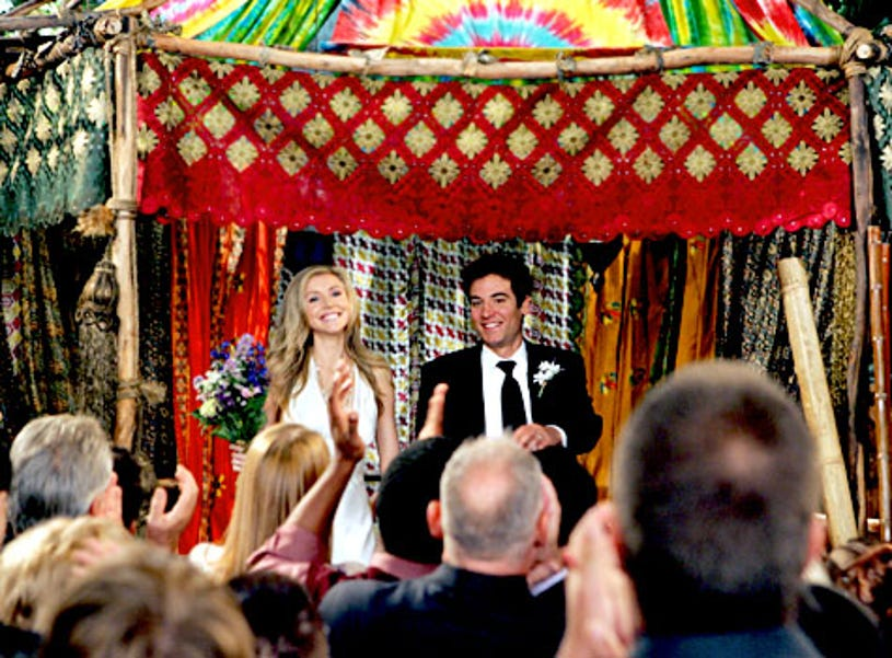 """How I Met Your Mother - Season 4, """"Shelter Island"""" - Guest star Sarah Chalke as Stella, Josh Radnor as Ted"""