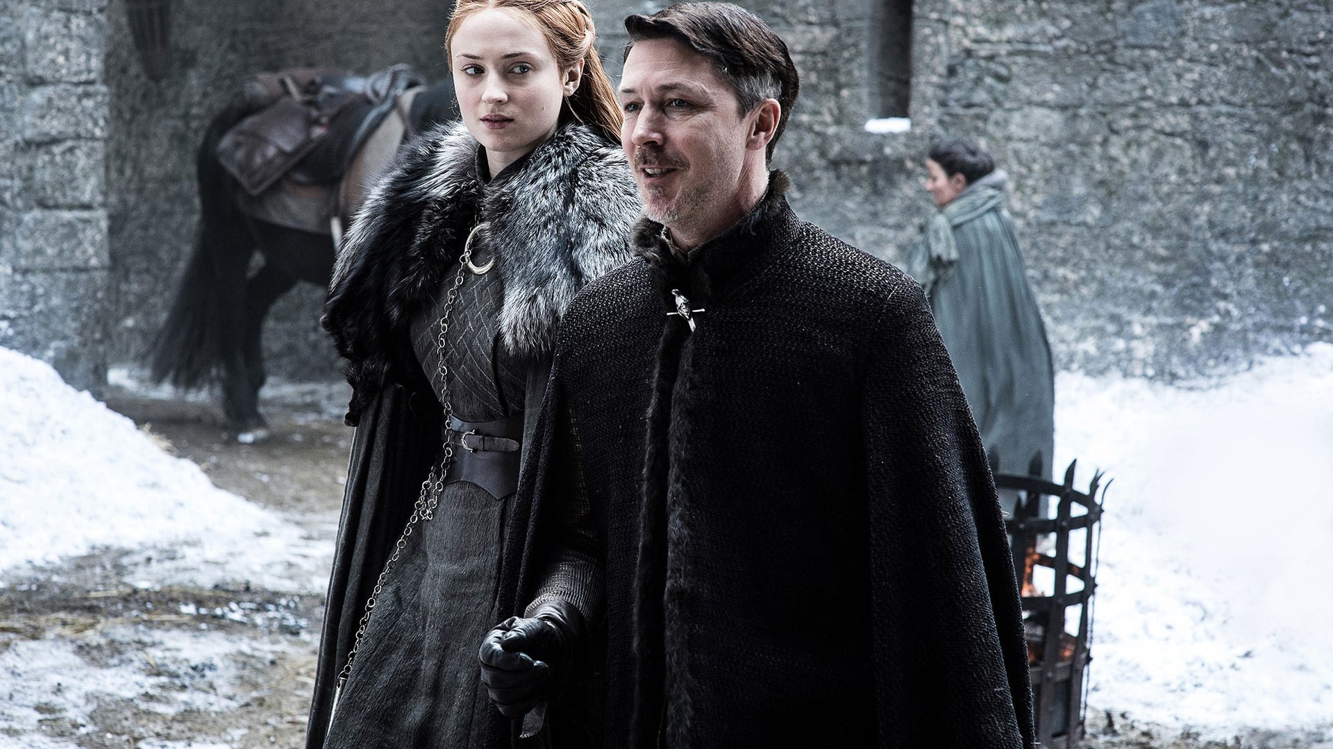 Sophie Turner and Aidan Gillen, Game of Thrones