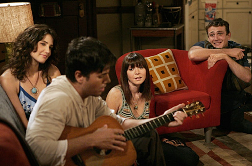 """How I Met Your Mother - Season 3 - """"We're Not From Here"""" - Cobie Smulders as Robin, Enrique Iglesias as Gael, Alyson Hannigan as Lily and Jason Segel as Marshall"""