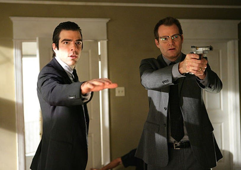 """Heroes - Season 3 - """"Angels and Monsters"""" - Zachary Quinto as Sylar and Jack Coleman as Noah"""