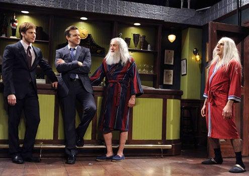 """Saturday Night Live - Season 36 - """"Robert DeNiro"""" - Jason Sudeikis, Andy Samberg, Robert De Niro and Ben Stiller"""