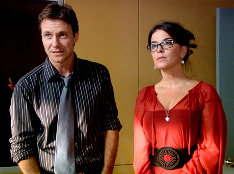 """Mental - Season 1 - """"A Beautiful Delusion"""" - Chris Vance as Dr. Jack Gallagher and Annabella Sciorra as Nora Skoff"""