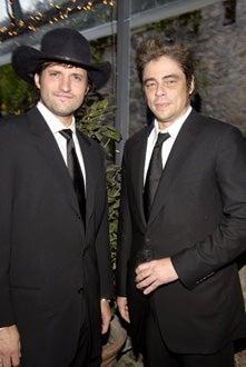 "Robert Rodriguez and Benicio Del Toro - amfAR ""Cinema Against AIDS"" Gala, May 19, 2005"
