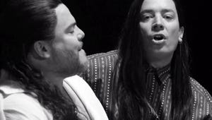 """Jimmy Fallon and Jack Black Perfectly Recreate """"More Than Words"""" Music Video"""