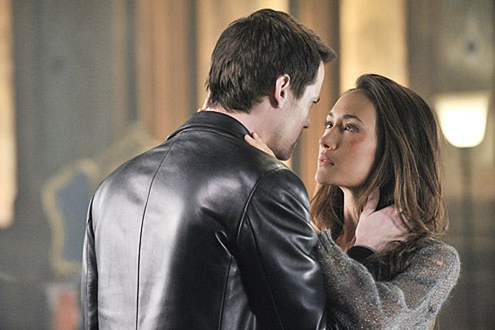 "Nikita - Season 1 - ""Covenant"" - Shane West as Michael and Maggie Q as Nikita"