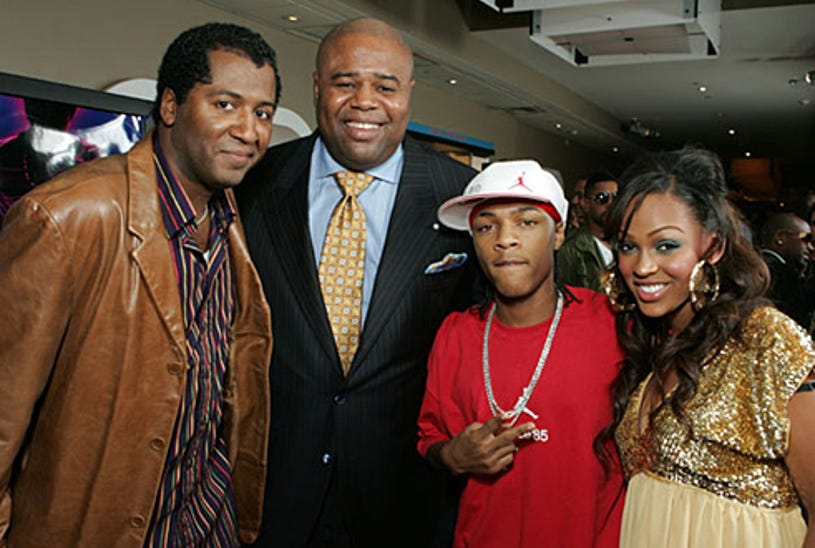 """Director Malcolm Lee, Chi McBride, Bow Wow and Meagan Good - Premiere of """"Roll Bounce"""", Los Angeles, September 20, 2005"""