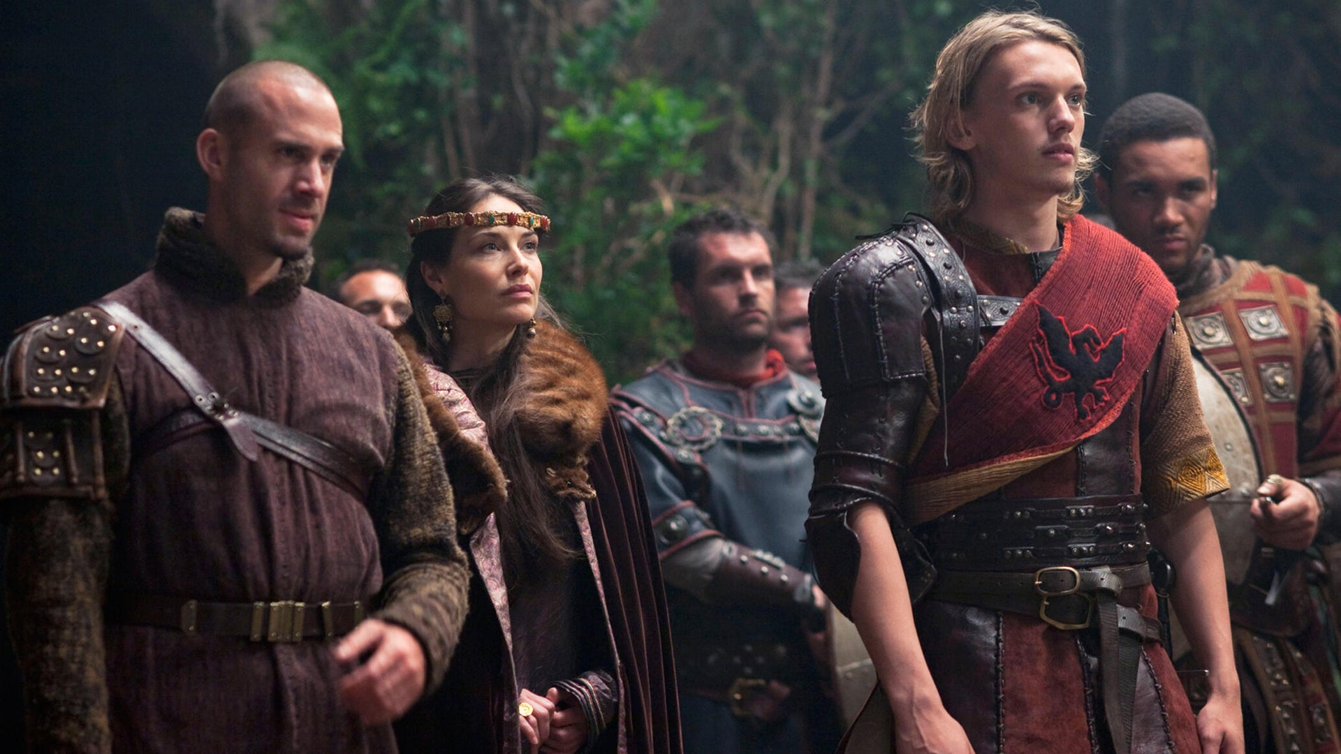 Joseph Fiennes and Jamie Campbell Bower, Camelot