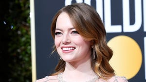 Emma Stone Yells 'I'm Sorry' After Sandra Oh's Sick Aloha Burn at the Golden Globes