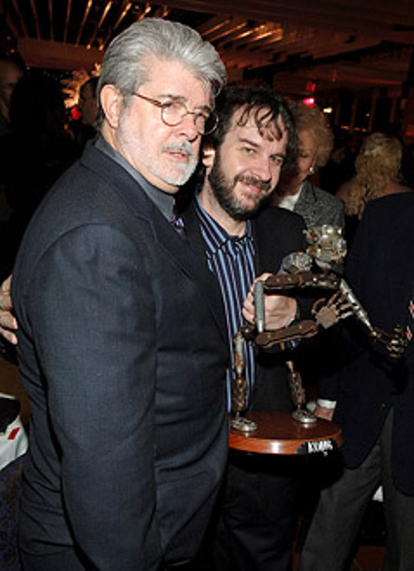 """George Lucas and Peter Jackson - """"King Kong"""" New York City Premiere"""