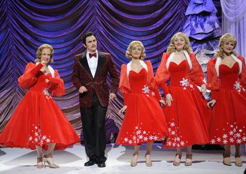"Saturday Night Live - Season 35 - ""James Franco"" - Kristen Wiig, James Franco, Nasim Pedrad, Abby Elliott and Jenny Slate"