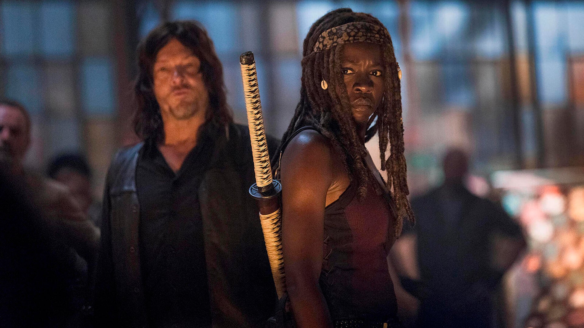 Norman Reedus and Danai Gurira, The Walking Dead