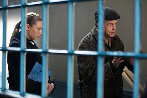 "Fringe - Season 4 - ""A Better Human Being"" - Anna Torv as Olivia Dunham and John Noble as Walter Bishop"