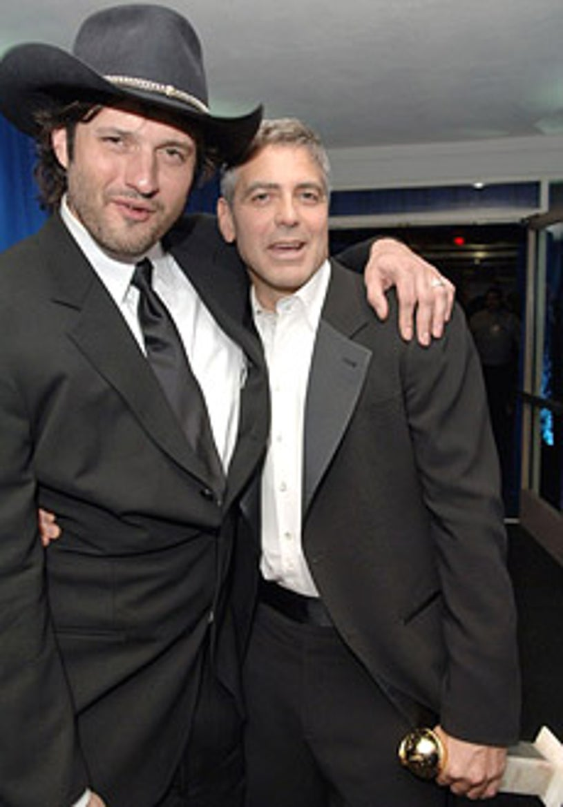 Robert Rodriguez and George Clooney - The 2006 Golden Globes after party, January 16, 2006