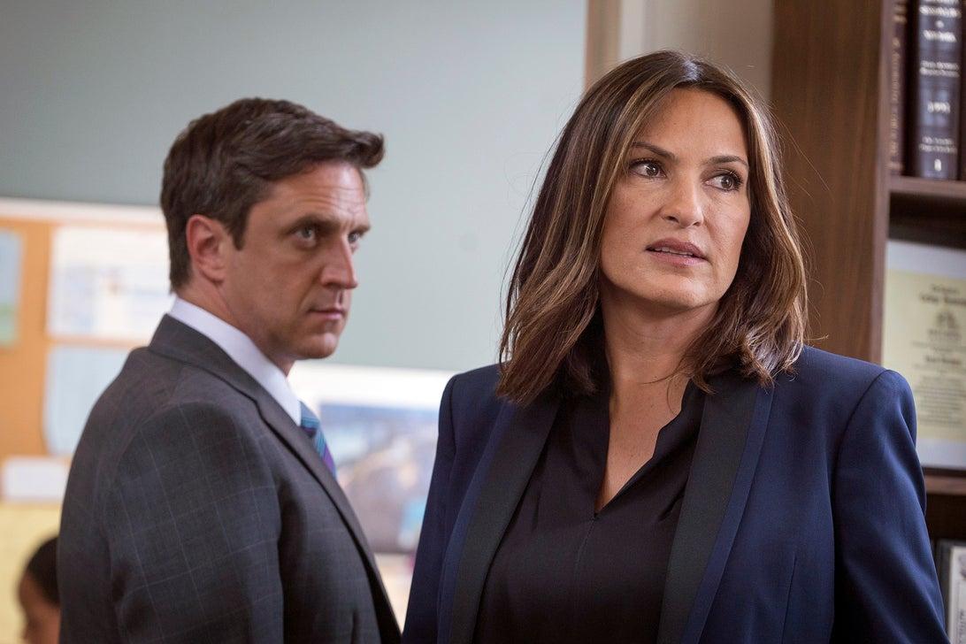Raul Esparza and Mariska Hargitay, Law & Order: SVU