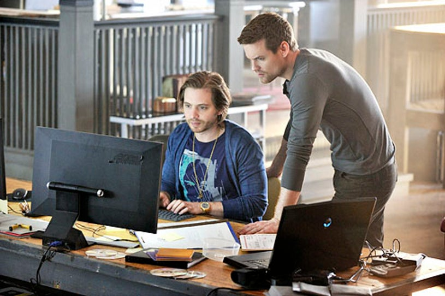 "Nikita - Season 2 - ""Crossbow"" - Aaron Stanford and Shane West"