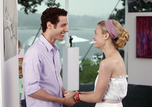 "Royal Pains - Season 3 - ""Run Hank Run"" - Paulo Costanzo as Evan Lawson and Brooke D'Orsay as Paige Collins"