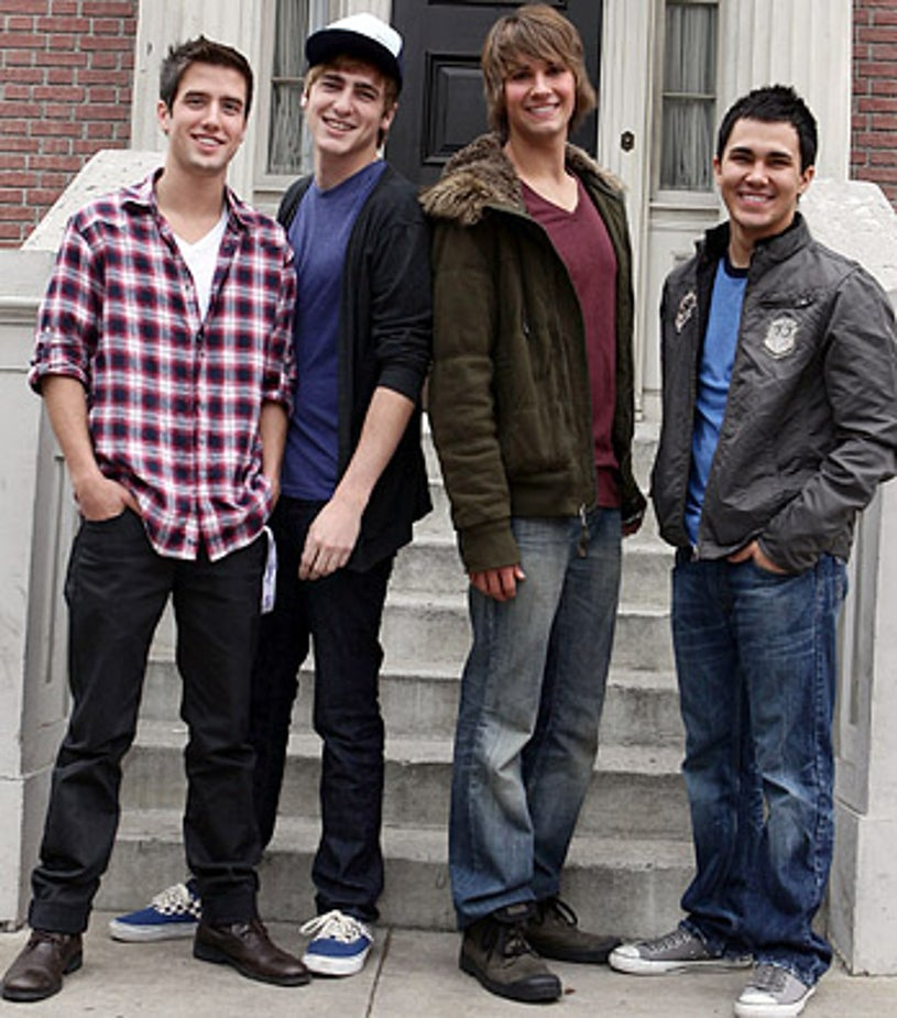 """Logan Henderson, James Maslow, Kendall Schmidt and Carlos Pena - arrive at Variety's 3rd annual """"Power of Youth"""" event held at Paramount Studios, Los Angeles, December 5, 2009"""