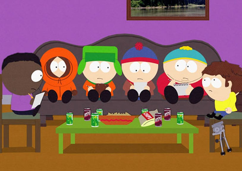 """South Park - Season 13 - """"The F Word"""" - Token, Kenny, Kyle, Stan, Cartman and Jimmy"""
