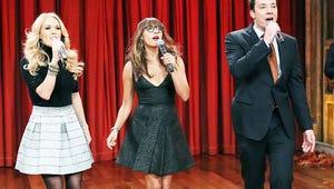 VIDEO: Jimmy Fallon, Carrie Underwood and Rashida Jones Put a Holiday Spin on Pop Hits
