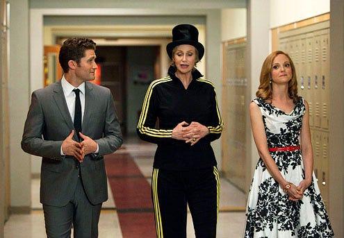 """Glee - Season 3 - """"Nationals"""" - Matthew Morrison, Jane Lynch and Jayma Mays"""