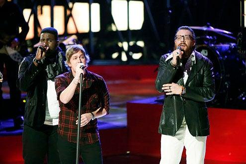 "The Voice - Season 3 - ""Live Results Show"" - Trevin Hunte, Rob Thomas and Nicholas David"