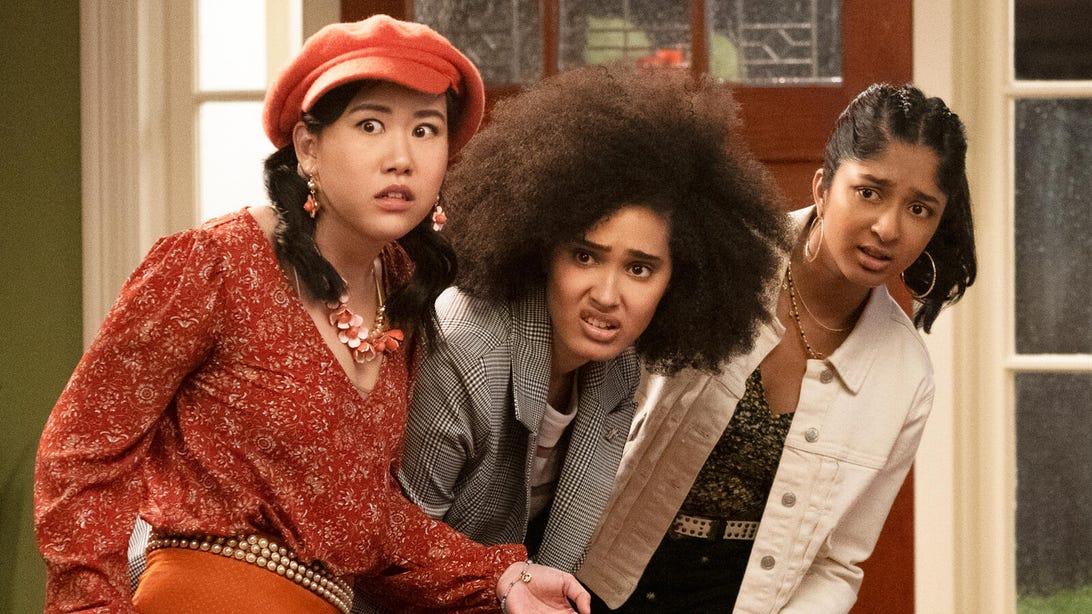 Ramona Young, Lee Rodriguez, and Maitreyi Ramakrishnan, Never Have I Ever