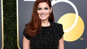 Debra Messing Called Out E! for Lack of Equal Pay on Golden Globes Red Carpet