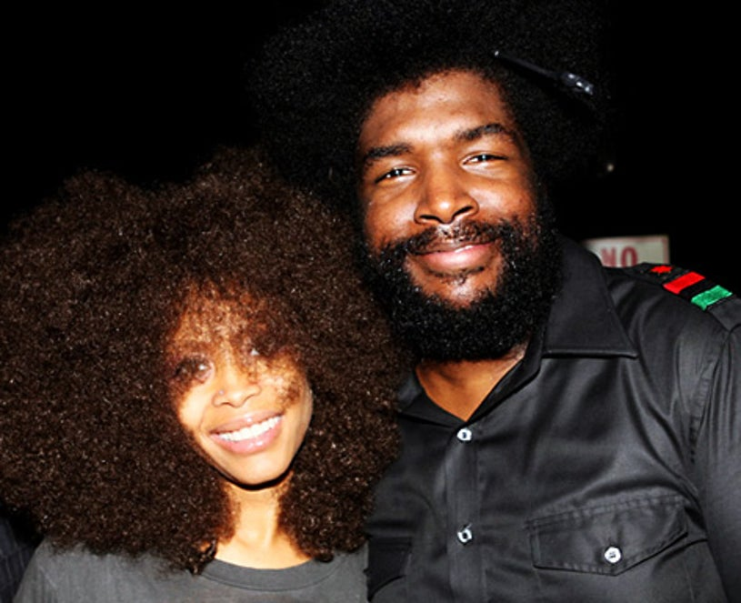 Erykah Badu and Questlove (Ahmir Khalib Thompson) - Artists for a New South Africa Party - Los Angeles - Nov. 15, 2007