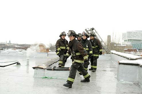 "Chicago Fire - Season 2 - ""A Rocket Blasting Off"" - David Eigenberg, Jesse Spencer, Yuri Sardarov, Daisy Betts and Joe Misoso"