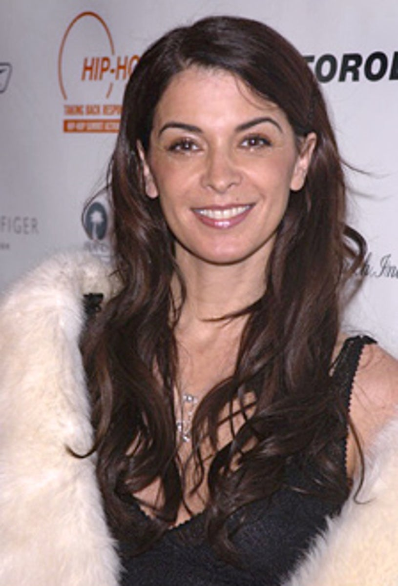 Annabella Sciorra arrives at the Hip-Hop Summit Action Network's First Annual Action Awards Benefit and Dinner.