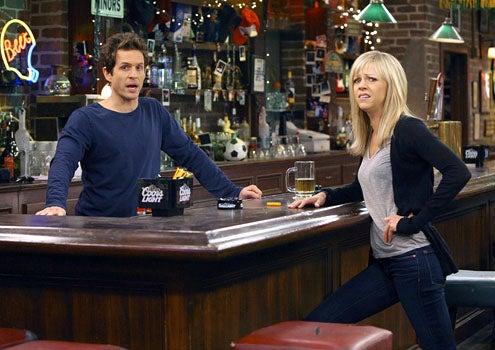 "It's Always Sunny in Philadelphia - Season 5 - ""The Gang Gives Frank an Intervention"" - Glenn Howerton as Dennis and Kaitlin Olson as Dee"