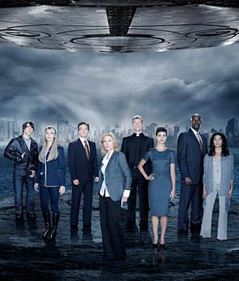 V - Logan Huffman as Tyler Evans, Laura Vandervoort as Lisa, Scott Wolf as Chad Decker, Elizabeth Mitchell as Erica Evans, Joel Gretsch as Father Jack, Morena Baccarin as Anna, Morris Chestnut as Ryan Nichols and Lourdes Benedicto as Valerie